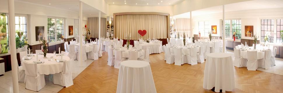 Räume für große und kleine Feiern.